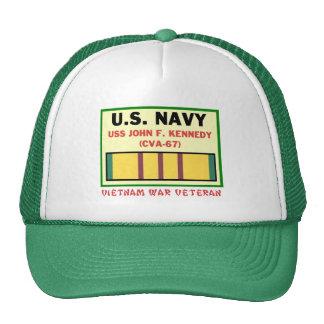 CVA-67 JOHN F. KENNEDY VIETNAM WAR VET HATS