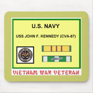 CVA-67 JOHN F. KENNEDY VIETNAM WAR VET MOUSE PAD