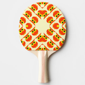 CVAn0040 Cute Red Owls Ping Pong Paddle