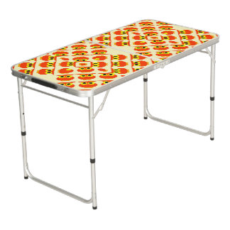 CVAn0040 Cute Red Owls Pong Table