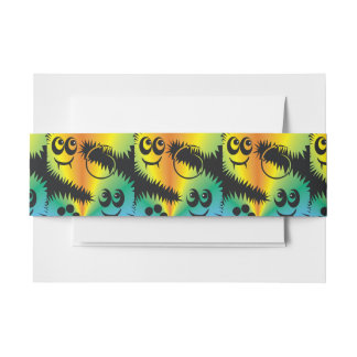 CVAn0047 Fussy Monster Happy Party Goers Invitation Belly Band
