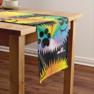 CVAn0047 Fussy Monster Happy Party Goers Long Table Runner