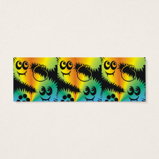 CVAn0047 Fussy Monster Happy Party Goers Mini Business Card