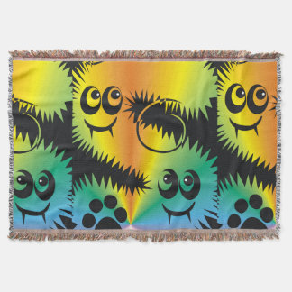 CVAn0047 Fussy Monster Happy Party Goers Throw Blanket