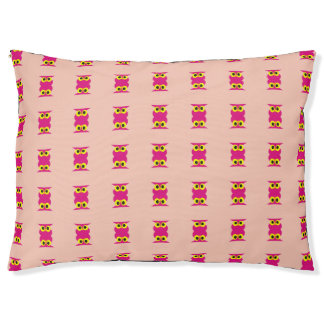 CVAn0051 Pink Owl Twins Pet Bed