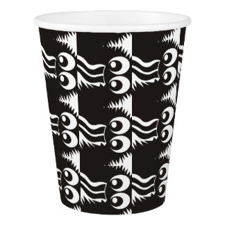 CVAN0058 Fuzzy Monster Black and White.JPG Paper Cup
