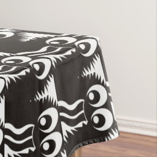 CVAN0058 Fuzzy Monster Black and White.JPG Tablecloth