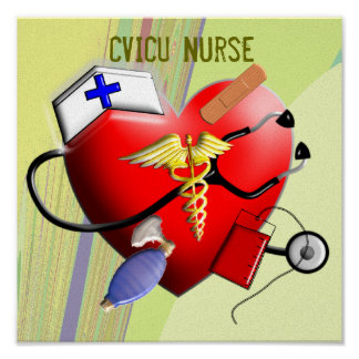 CVICU Nurse Canvas Art Poster