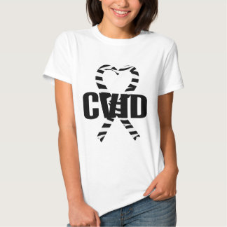 CVID Zebra Heart Ribbon Awareness T-shirt