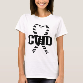 CVID Zebra Heart Ribbon Awareness T-shirt
