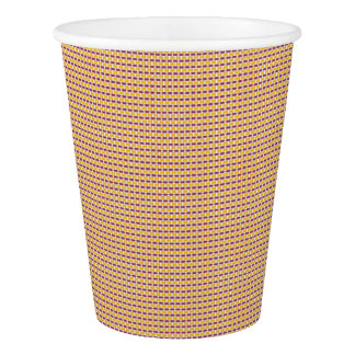 CVPA20019 Boysenberry Purple and Poppy Yellow Dots Paper Cup