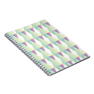 CVPA20028 Diamonds and Triangles Soft colors blue Notebooks