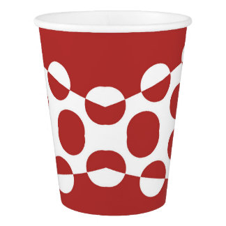 CVPA20031 Red Afternoon Bubbles Paper Cup