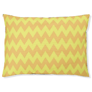 CVPA20044 orange and yellow chevron zig zag Pet Bed