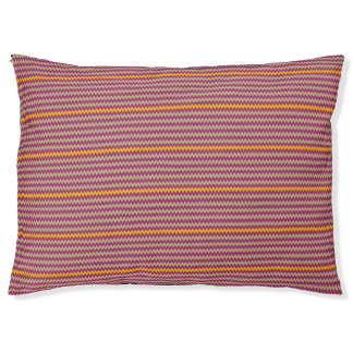 CVPA20050 ZigZag Chevron Yellow Purple Ecru Pet Bed