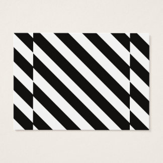 CVS0096 Black and White wide slanted angled stripe Business Card