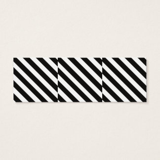 CVS0096 Black and White wide slanted angled stripe Mini Business Card