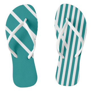 CVS0097 Teal Blue with White Criss Cross Stripes.p Thongs