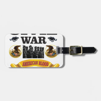 cw american blood red luggage tag