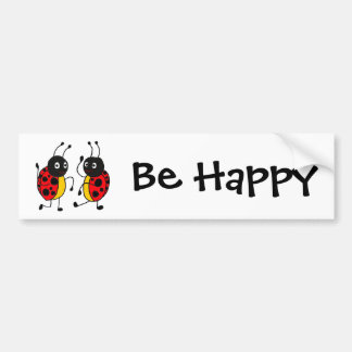 CW- Dancing Ladybugs Bumper Sticker