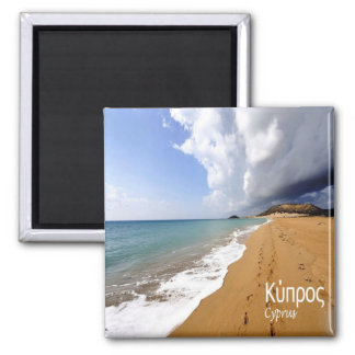 CY - Cyprus - Beach Square Magnet