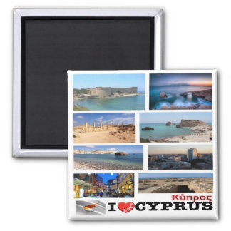 CY - Cyprus - I Love Collage Mosaic Magnet