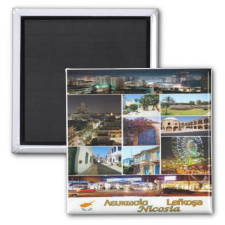 CY - Cyprus - Nicosia - Collage Mosaic Square Magnet