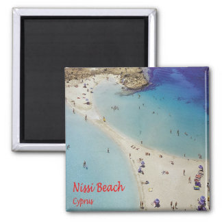 CY - Cyprus - Nissi - Beach Square Magnet