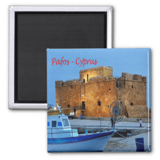CY - Cyprus - Pafos - Byzantine Forte Square Magnet