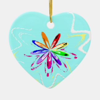 Cy Flower.png Ceramic Heart Decoration