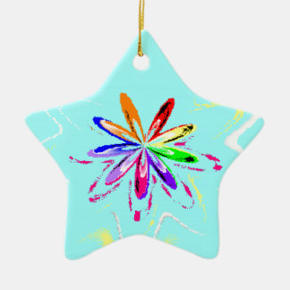 Cy Flower.png Ceramic Star Decoration