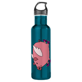 CY- Funny Flying Pig 710 Ml Water Bottle