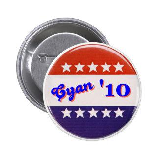 Cyan '10 Button