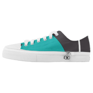 Cyan Abstract Low Tops