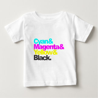 Cyan and Magenta and Yellow and Black Baby T-Shirt