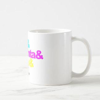 Cyan and Magenta and Yellow and Black Coffee Mug