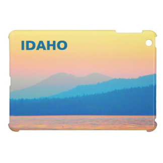 Cyan and Salmon Sunset iPad Mini Cover