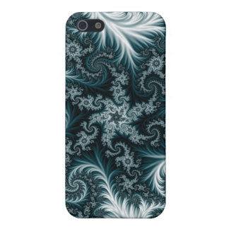 Cyan and white fractal pattern. case for iPhone 5/5S
