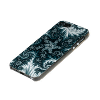 Cyan and white fractal pattern. incipio feather® shine iPhone 5 case