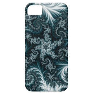 Cyan and white fractal pattern. iPhone 5 case