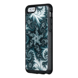 Cyan and white fractal pattern. OtterBox iPhone 6/6s case