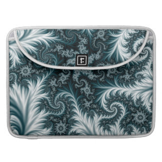 Cyan and white fractal pattern. sleeve for MacBook pro