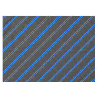 Cyan Blue Carbon Fiber Style Racing Stripes Tablecloth
