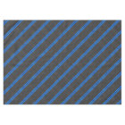 Cyan Blue Carbon Fibre Style Racing Stripes Tablecloth