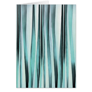 Cyan Blue Ocean Stripey Lines Pattern Card