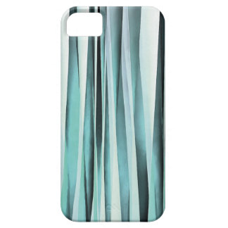 Cyan Blue Ocean Stripey Lines Pattern iPhone 5 Cases