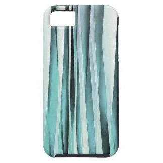 Cyan Blue Ocean Stripey Lines Pattern iPhone 5 Cover