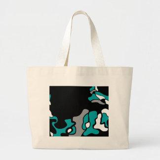Cyan creativity large tote bag