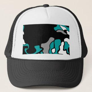 Cyan creativity trucker hat