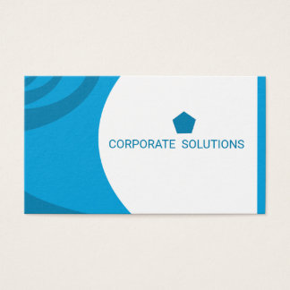Cyan Deep Sky Blue Corporate Business Card